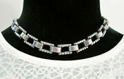 Early Vtg Signed Stamped Los Castillo 387 Sterling Silver Necklace Chain 55g