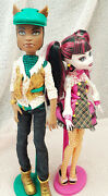 Monster High Forbidden Love Draculaura Clawd Wolf Doll Set Pet And Parasol