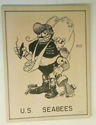 Vintage Ww2 Military Soldier Folk Art Us Seabees 50th Naval Const Batt And Photo