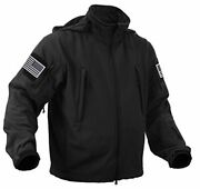 Special Ops Tactical Soft Shell Jacket With Xx-large Black With Silver Patches