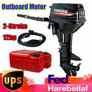 2 Stroke 12hp Outboard Motor Fishing Boat Engine Water-cooling Cdi 169cc Us