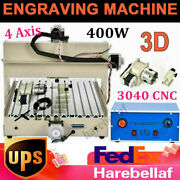 400w 4 Axis Cnc 3040 Router Engraver Machine Carving Woodworking Mill+drill Pcb