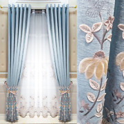Embroidered Curtains For Modern Living Room Luxury Blackout Soundproof Curtains
