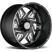 4-24x14 Milled Black Wheel American Truxx Forged Orion Atf1908 8x180 -76