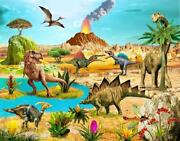 Dinosaurs Extraordinary Jigsaw Puzzle For Boy Puzzles 250 Pieces Boardgame T-rex