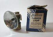 Vintage Justrite Carbide Miners Lamp No 2-844 With Box See Photos Free Shipping