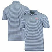 Ole Miss Rebels Southern Tide Driver Stripe Performance Polo - Blue