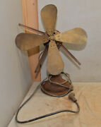 Antique Westinghouse Electric Fan 4 Brass Blade Early Alternating Current Parts