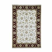 6and039x9and0393 Rajasthan Half Wool And Half Silk Thick And Plush Hand Knotted Rug R66748