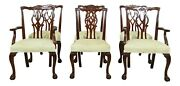 L52248ec Set Of 6 Kindel Ball And Claw Mahogany Dining Room Chairs
