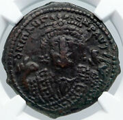 Maurice Tiberius Ancient 602/3ad Byzantine Antioch Old Follis Ngc Coin I89155