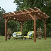 Backyard Discovery 10and039 X 12and039 Cedar Pergola Brown 10 X 12