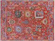 9and039 2 X 12and039 1 Turkish Oushak Hand Knotted Wool Rug - Q9381