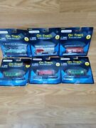 Maisto On Track. Train Engines Cabooses And Hopper. New. Diecast Metal. Lot Of 6