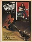 1982 John Lodge Of The Moody Blues On Tour With Washburn - Vintage Guitar Ad