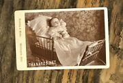Photo Of Post Mortem Baby In Carriage Wellington Ohio 1800s Cabinet Card