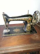 Antique Singer Sewing Machine 1930's With Treadle, Works