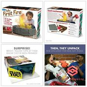 Prank Pack Funny Gag Joke Gift Box Andldquomy First Fireandrdquo For Any Adult Or Kid