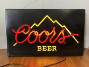 Vintage 1985 Coors Beer Lighted Neon Bar Sign - Read