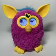 2012 Furby A3149/a0002 Pink Furby With Yellow Ears Talking Electronic Battery