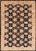 Excellent Vintage Floral Mahal Hand-knotted Area Rug Wool Oriental Carpet 6x9 Ft