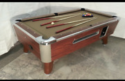 7and039 Valley Commercial Coin-op Pool Table Model Zd-4 New Taupe Cloth