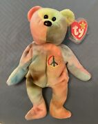 Ty Peace Bear Beanie Baby - Rare Retired Original 1996 - Excellent Condition