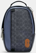Coach Mens Blue Signature Crossbody Backpack- New Backpacks Bags And Briefcases