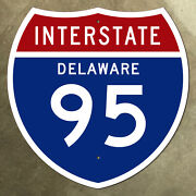 Delaware Interstate Route 95 Highway Marker Road Sign 18x18 1957 Wilmington