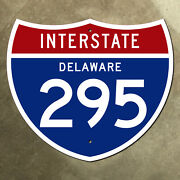Delaware Interstate Route 295 Highway Marker Road Sign 42x36 Wilmington