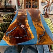 Epoxy Table Top, Resin Table Top, Dining Table Top, Chestnut Table Top, Wood Art
