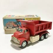 Lift Dump Truck Dumptruck Yonezawa Made In Electric Tin Toys Complete Product