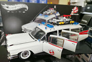 118 Hot Wheels Elite Cadillac Ghostbusters Ecto Diecast Car Model Fully Open