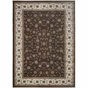 Admire Home Living Plaza Traditional Oriental Floral Scroll Brown 5'3 X 7'3/su