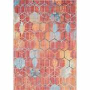 Unique Loom Honeycomb Rainbow Area Rug Red 7and039 X 10and039