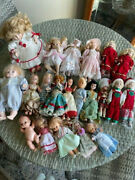 Vintage And Antique Dolls Lot Of 21