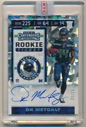 Dk Metcalf 2019 Panini Contenders Rc Cracked Ice Autograph Seahawks Auto Sp /23