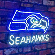 Seahawks Blue Neon Signs Football Team Collectibles Neon Display Light Gift 17