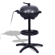 1350 W Outdoor Dining Electric Bbq Grill Tasty Barbecue W/ Removable Tray Stand