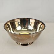 Silverplate Bowl Paul Revere Reproduction Wm A Rogers - 10 Inch