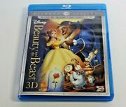 Beauty And The Beast 3d Blu-ray/dvd 5-disc Set Diamond Edition ✅good ✅tested