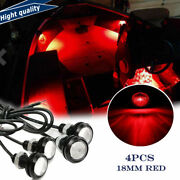 Red Led Boat Light Waterproof Deck Storage Kayak Bow Trailer Bass Stern Anchor