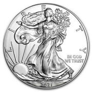 Lot Of 5 - 2021 American Silver Eagle 1 Oz 1(5 Pc Coins)
