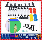 Photography 4 Roller Wall Mounting Manual Background Support System Studio Live