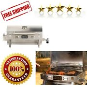 Propane Tabletop Grill 1 Burner Stainless Steel Outdoor Camping Family Dinner