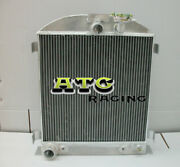 3 Row 64mm Aluminum Radiator Alloy For 1932 32 Ford Chopped Ford Engine At