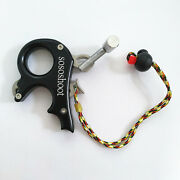 Archery Compound Bow Release Aids 3 Finger Trigger Grip Caliper Thumb Handle