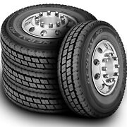 4 New General Hd 285/75r24.5 Load G 14 Ply Drive Commercial Tires