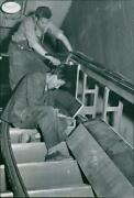 The Thick Handrail Of Rubber And The Perforated Met - Vintage Photograph 2354373