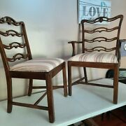 Set Of 6 Mahogany Duncan Phyfe Dining Chairs In Good Condition.